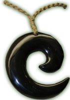 Buffalo Horn Circle Of Life Pendant
