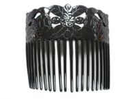 Turtle Shell Hair Comb - Black