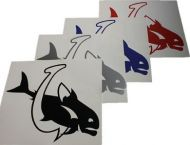 Fish & Hook Vinyl Decal Sticker