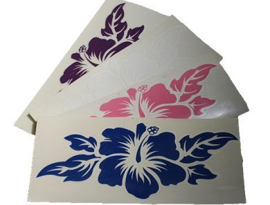 Hibiscus Vinyl Decal Sticker