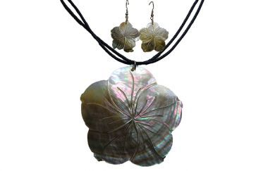 Mother of Pearl Necklace & Earrings Set