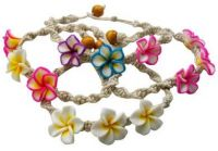 Hemp Bracelet with Plumeria