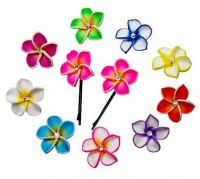 Fimo Flower Hair Pins