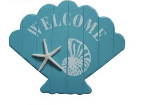 Welcome Sign with Starfish