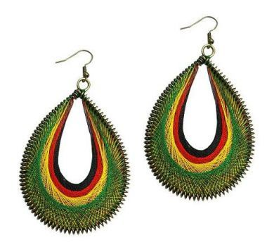 Rasta Style Dream Catcher Earrings