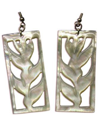 Heliconia Shell Earrings