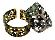Carved Turtle Shell Bracelet with Turtles