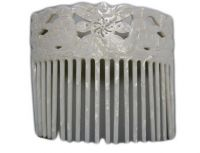 Turtle Shell Hair Comb - White