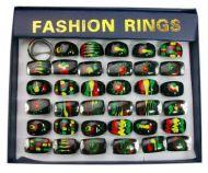 Rasta Style Rings