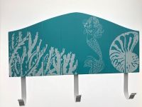 Blue Mermaid Ocean wood sign rack
