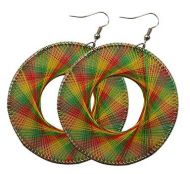Rasta Style Dream Catcher Earrings - Round