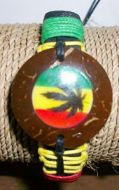 Coconut With Leaf Pendant